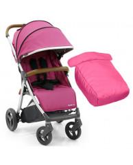 Детская коляска Oyster Zero Wow Pink с накидкой на ножки