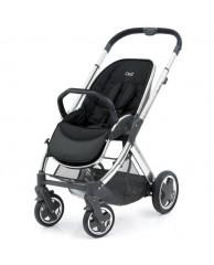 Детская коляска Oyster2 (шасси+прогулочный блок), хром/черная экокожа