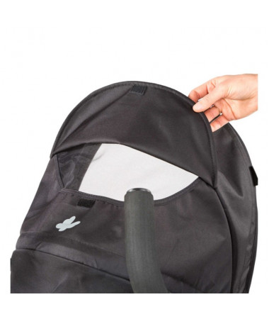 Детская  прогулочная коляска 3D Flip, чёрный/серый