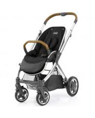 Детская коляска Oyster2 (шасси+прогулочный блок), хром/корич. экокожа