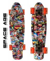 """Скейтборд 22"""" TLS-401G Led Print Space Age"""
