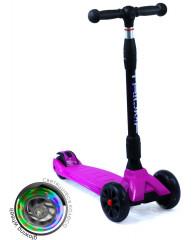 Самокат трехколесный SKL-L-02 Maxi Pro Flash Розовый