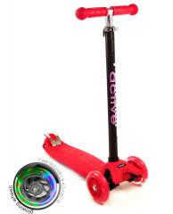 Самокат трехколесный SKL-07L Maxi Flash Красный
