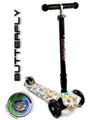Самокат трехколесный SKL-07CLP Maxi Flash Plus Print Butterfly