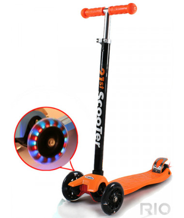 Самокат со светящимися колесами Firefly 21st scooter maxi micro SKL-07B