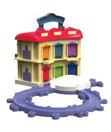 Игровой набор Chuggington Die-cast Двухэтажное депо с Брюстером