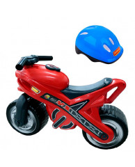 Каталка мотоцикл МХ со шлемом П-46765
