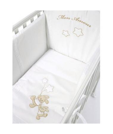 Кровать Bambolina Tenerino Cristallo + набор белья + матрас