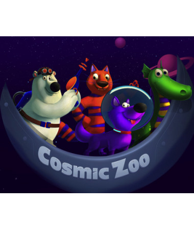 Самокат со светящимися колесами Small Rider Cosmic Zoo Galaxy