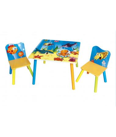 Набор детской мебели стол и стулья Sweet Baby Duo Sea world