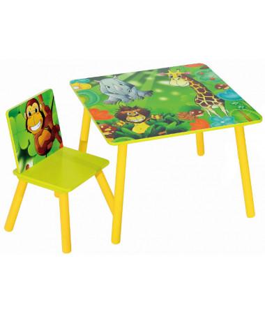 Набор детской мебели стол и стул Sweet Baby Uno Safari