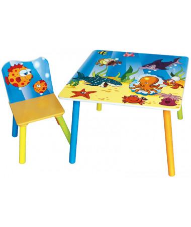 Набор детской мебели стол и стул Sweet Baby Uno Sea world