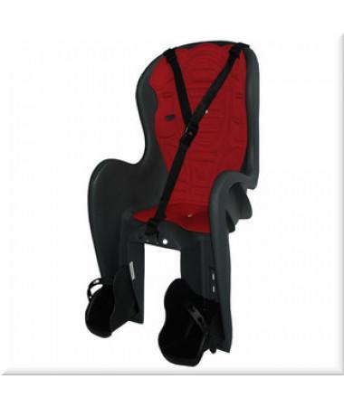 Детские велокресла HTP Bingo DeLuxe/Frame/Grey Dark (на раму сзади, до 22 кг, 3-6 лет)