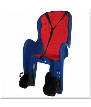 Детские велокресла HTP Bingo DeLuxe-Frame-Blue (на раму сзади, до 22 кг, 3-6 лет)