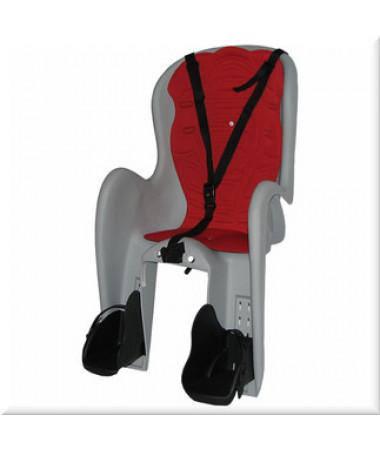 Детские велокресла HTP Bingo DeLuxe/Frame/Grey Light (на раму сзади, до 22 кг, 3-6 лет)