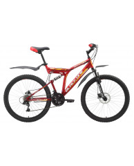 Велосипед Black One Descender Disc Red-Yellow 18""