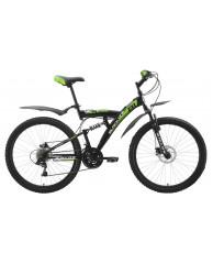 "Велосипед Black One Flash (Disc) Black-Green-White 16"""