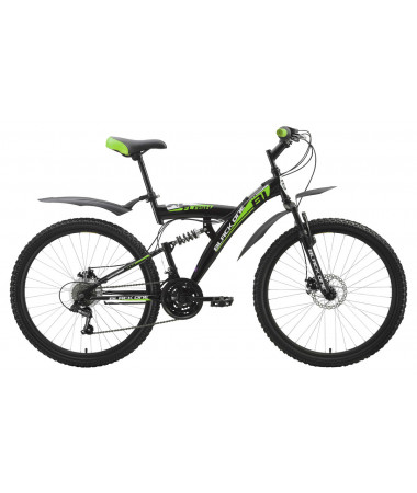 "Велосипед Black One Flash (Disc) Black-Green-White 18"""