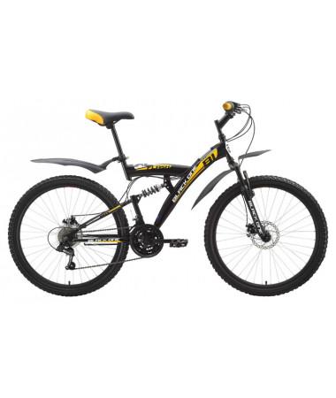 """Велосипед Black One Flash (Disc) Black-Yellow 20"""""""