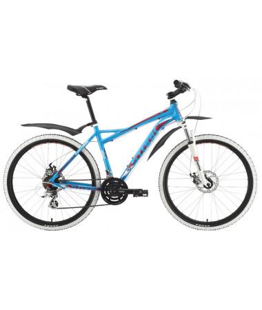 """Велосипед Stark'15 Antares Disc голубой-малиновый 18"""""""