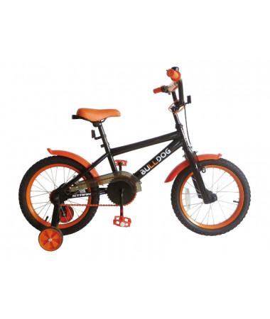 """Велосипед Stark'15 Bulldog черный-оранжевый 16"""""""