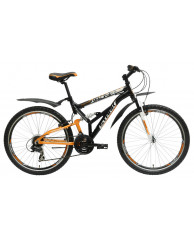 """Велосипед Stark'15 Indy FS черный-оранжевый 17"""""""