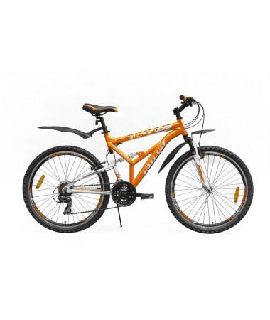 "Велосипед Stark'15 Indy FS оранжевый-белый 17"""