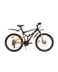 """Велосипед Stark'15 Indy FS Disc черный-оранжевый 17"""""""