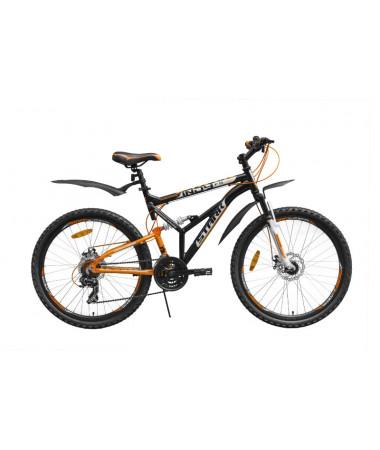 """Велосипед Stark'15 Indy FS Disc черный-оранжевый 19"""""""