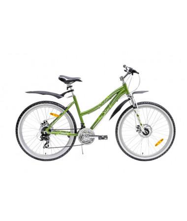 "Велосипед Stark'15 Indy Lady Disc зеленый-белый 14,5"""