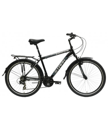 "Велосипед Stark'15 Satellite Man черный-серый 18"""