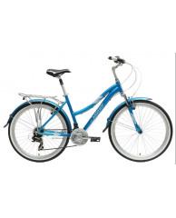 "Велосипед Stark'15 Satellite Lady голубой-белый 16"""