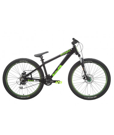 """Велосипед Stark'15 Shooter-2 черный-зеленый 18"""""""