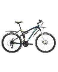 """Велосипед Stark'15 Stinger Disc черный-голубой 20"""""""