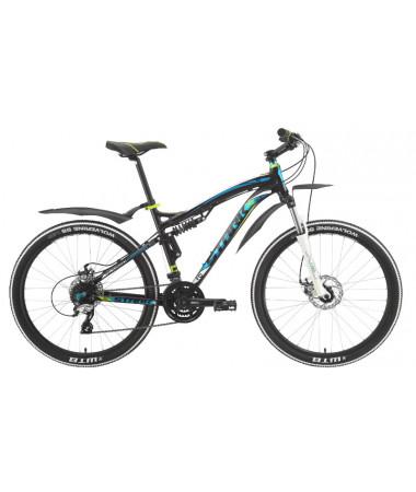 """Велосипед Stark'15 Stinger Disc черный-голубой 18"""""""