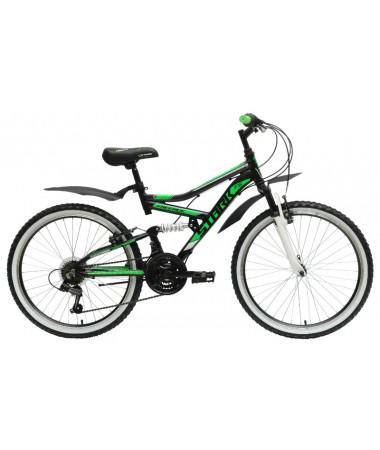Велосипед Stark'15 Striky черный-зеленый